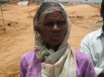 Mala Jangilamma, a farmer who lost her land to SEZ. She contested in the recent by-election and got the highest number of votes among all independents
